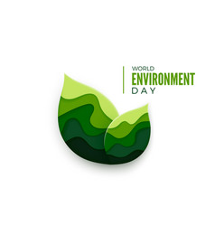 world environment day abstract green leaves vector image