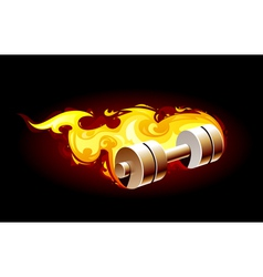 Burning dumbell vector image vector image