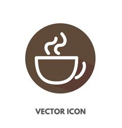 doodle cup icon vector image vector image