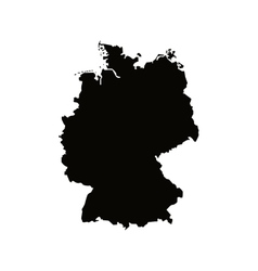 germany map silhouette icon vector image