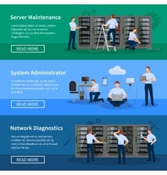 IT Administrator Horizontal Banners vector image vector image