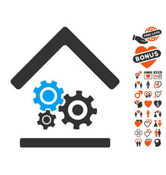 workshop icon with lovely bonus vector image