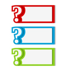 Banners with Question Mark vector image