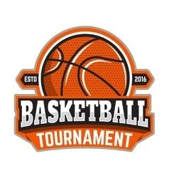 Basketball tournament emblem template with vector