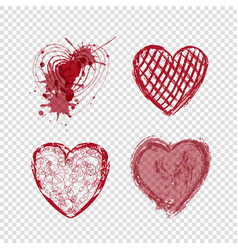 doodle hearts valentines day love holiday vector image
