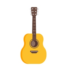 flat style of guitar icon vector image vector image