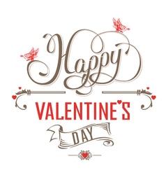 Happy Valentines Day Vintage label vector image