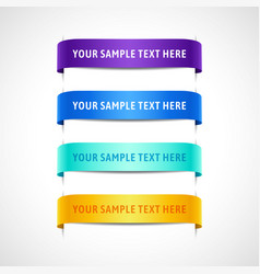 set of colored banners with text vector image vector image