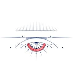vintage ribbon emblem background design elements vector image