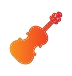 Violine sign Orange applique vector image vector image