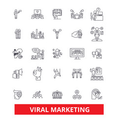 viral word of mouth social media advertising vector image