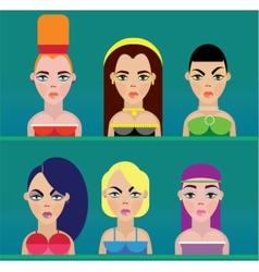 Beautiful women faces vector