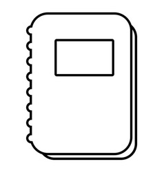 notebook icon outline line style vector image vector image