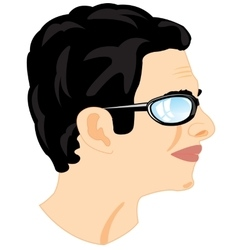 Person men in profile vector image vector image