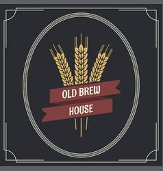beer vintage label logo background vector image vector image