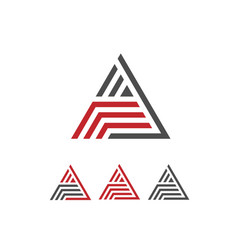 creative letter a with stripes logo vector image