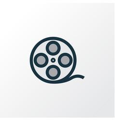 film reel colorful outline symbol premium quality vector image vector image
