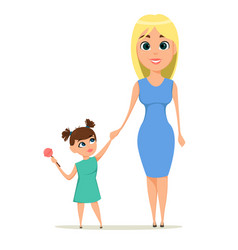 happy mothers day greeting card mother holding vector image vector image
