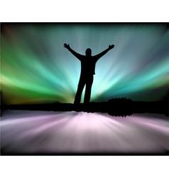 Motivational Aurora Background vector image vector image