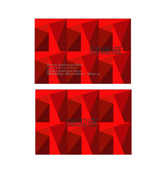 red modern and elegant business card vector image vector image