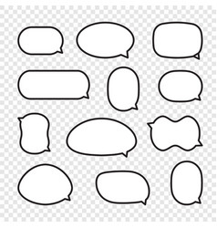 set of rounded comic speech bubbles vector image