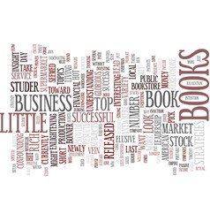 the most popular business books text background vector image vector image