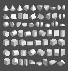 3d shapes set vector