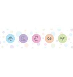 5 yellow icons vector