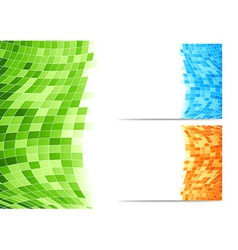 Abstract background with green tiles vector image