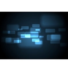 Abstract glowing blue rectangles design vector image