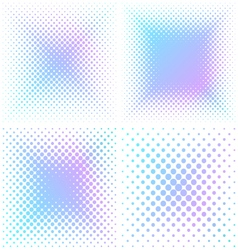 Abstract square halftone elements vector image