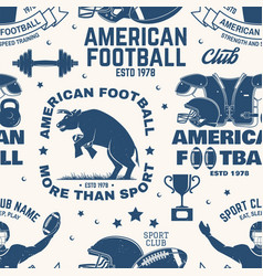 american football seamless pattern background vector image