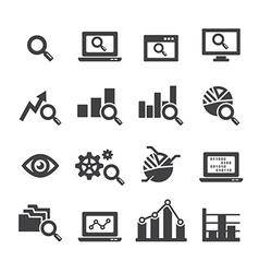 analysis icon set vector image