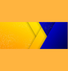 background gold orange glitters and blue vector image