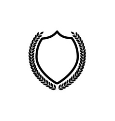 badge and logo an empty royal shield with a vector image