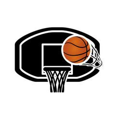 basketball balloon with basket board vector image