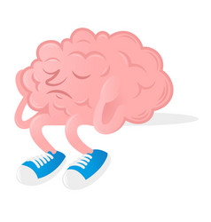 brain without idea vector image