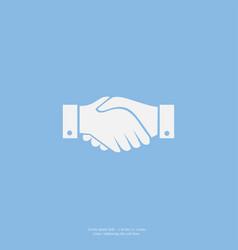 business handshake contract flat icon vector image