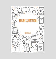 business seminar poster vector image