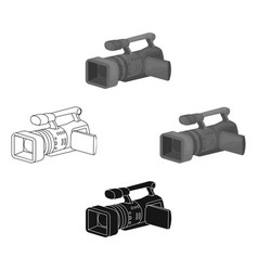 Camcorder icon in cartoonblack style isolated on vector
