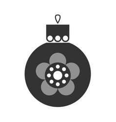 christmas toy symbol black flat icon vector image