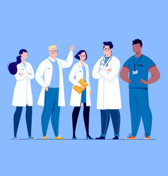 concept medical team vector image