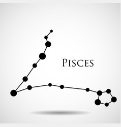 Constellation pisces zodiac sign vector