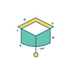 convocation icon design vector image