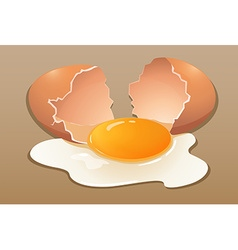 Cracking the raw egg vector