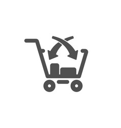 Cross sell icon market retail sign vector