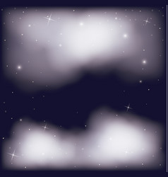 dark sky background with clouds and starry vector image
