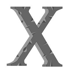 Decorative letter X vector