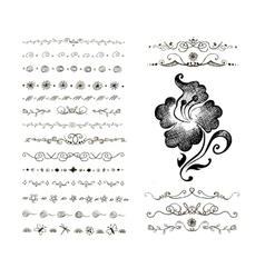 Doodles border vector