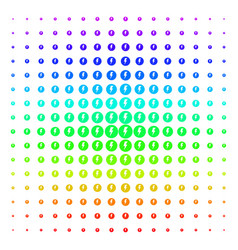 Electricity icon halftone spectral grid vector